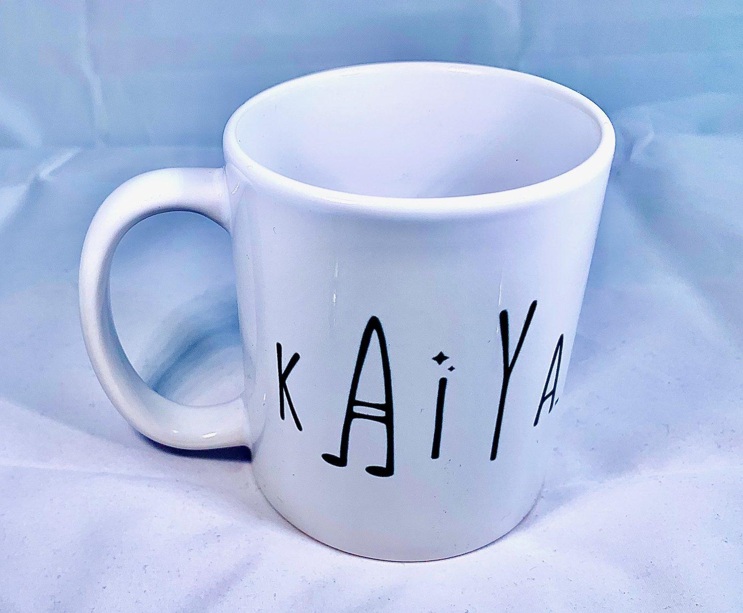 Kaiya logo mug top view